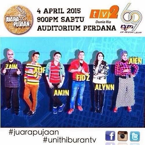 Juara Pujaan TV2, program realiti tv Juara Pujaan, pertandingan menyanyi Juara Pujaan, lagu malar segar Juara Pujaan, hadiah pemenang Juara Pujaan 2015, gambar Juara Pujaan TV2