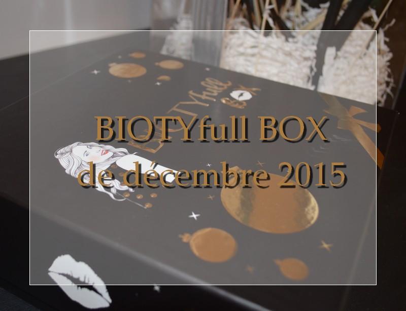 BIOTYfull BOX de décembre