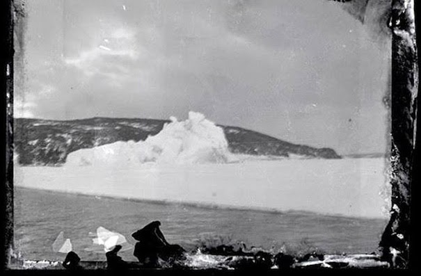 This photo was taken from the deck of the Aurora looking South to Hut Point Peninsula. - 100-Year-Old Box Of Negatives Discovered Frozen In Block Of Antarctica's Ice