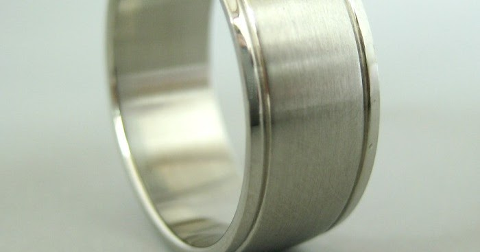Stainless Steel Wedding Band For Men