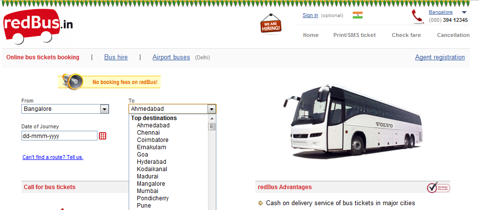 Virteacon Travelling redBus the best Online Ticket Booking System – Redbus Ticket Print