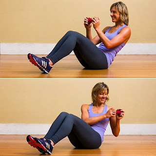 Seated Russian Twist Abs Workout