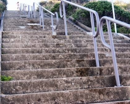 merewether baths stairs - exercise steps