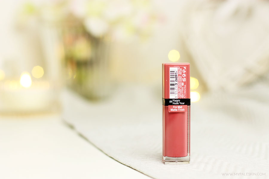 bourjois rouge edition velvet, happy nude year, review, swatch, pink, nude, review, my pale skin, test, em ford