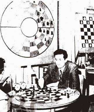 Sala de juego del I Torneo de Ajedrez Árabe
