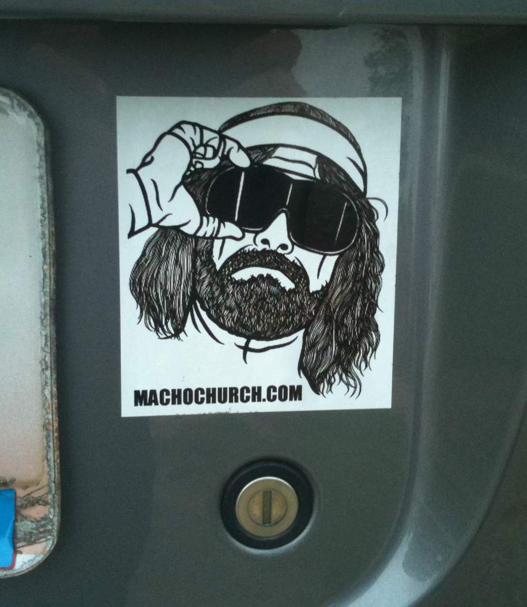 Bumper sticker design template - Macho Church Bumper Stickers Have Arrived Order Yours Today
