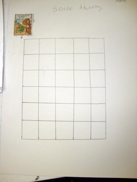 Comic strip scale drawings