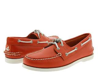 zapatos nauticos rojos