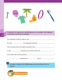 Apoyo Primaria Español 2do grado Bloque 3 lección 7 Rima en los trabalenguas