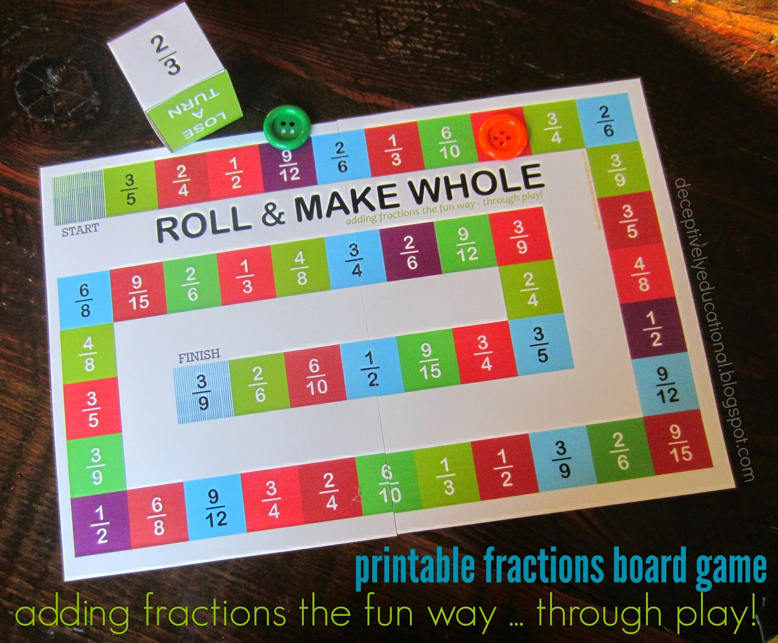 Relentlessly Fun Deceptively Educational Roll And Make Whole Adding