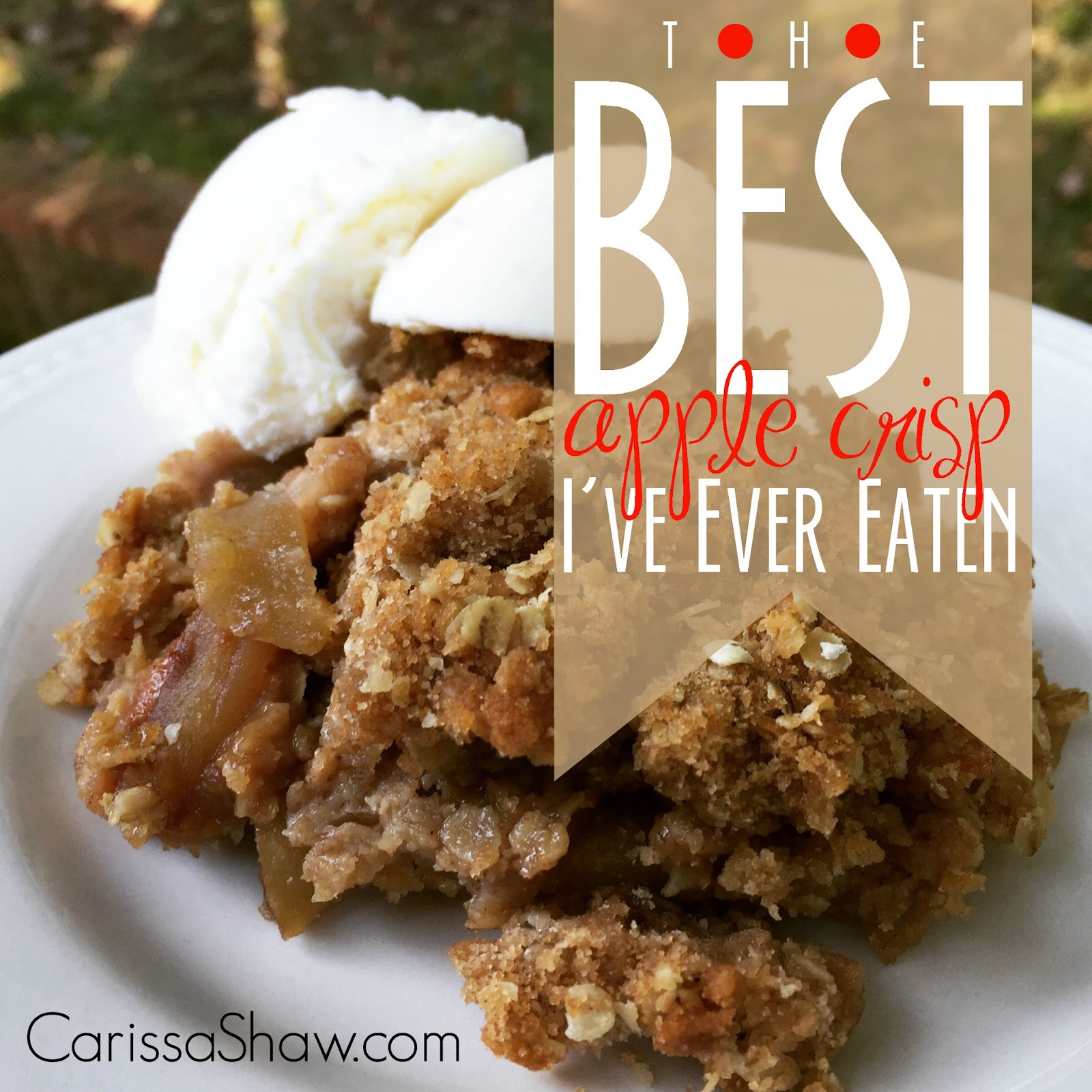 The Best Apple Crisp I've Ever Eaten - Mom Needs Chocolate