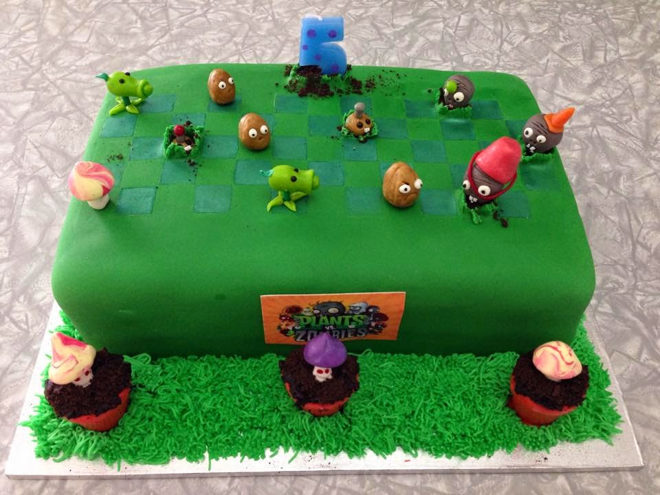 Kiwi Cakes Plants Vs Zombies cake for my wee friend Spencer
