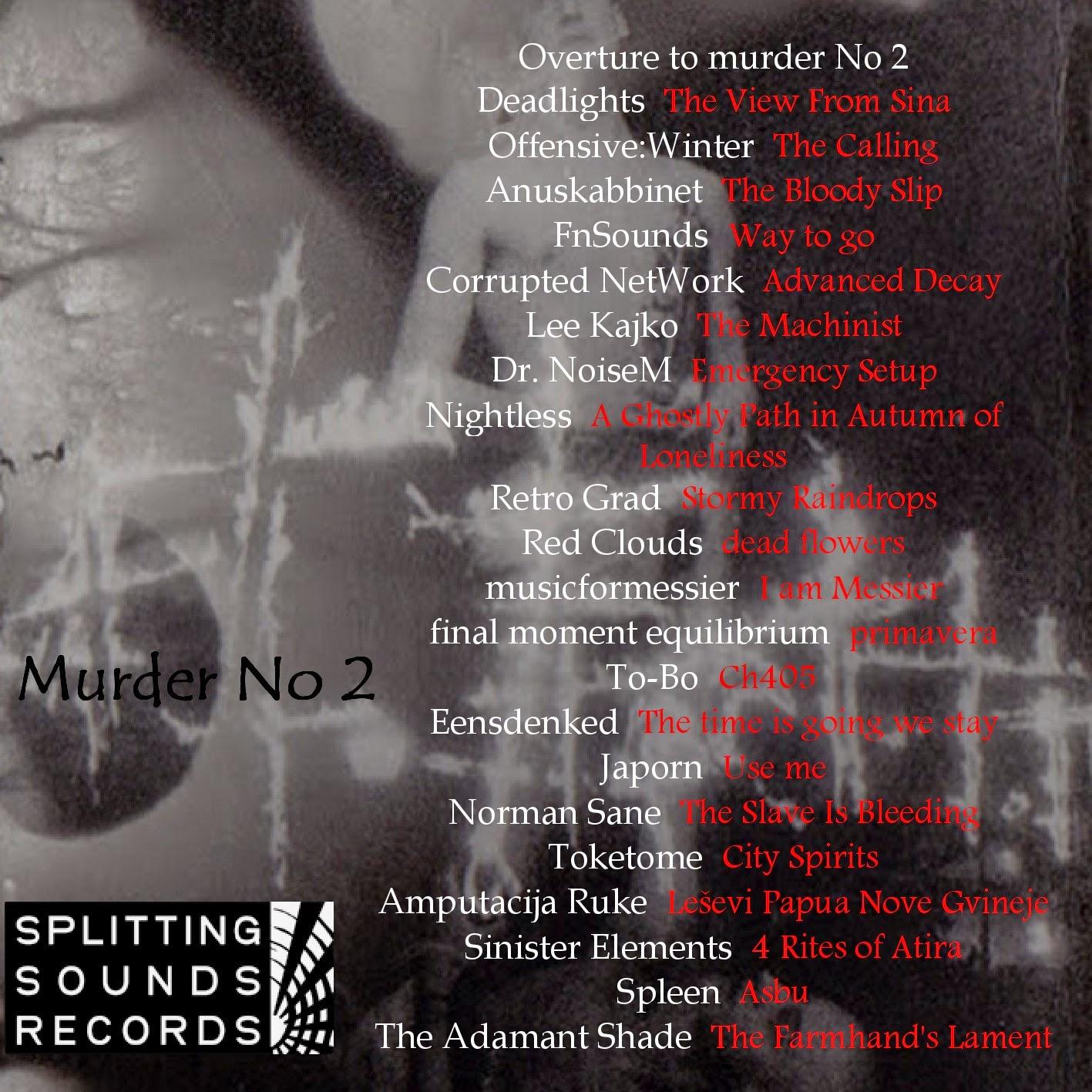 Chaosphere Vol. 2 - Sleepwalk To Murder (murder No 2) noise drone ambient postrock