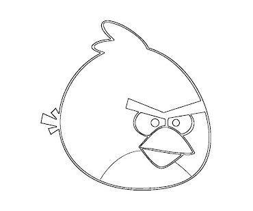 #1 Angry Birds Coloring Page