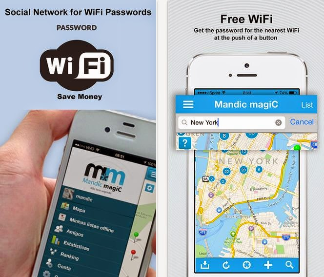 معرفة كلمات سر شبكة الواي فاي العمومية مع تطبيق Mandic magiC