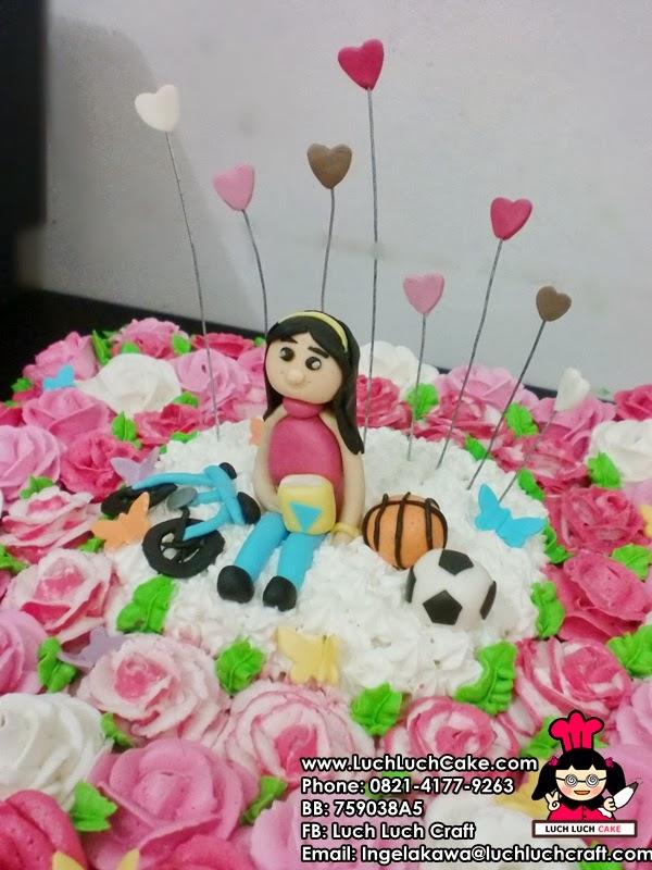 kue tart tema olahraga