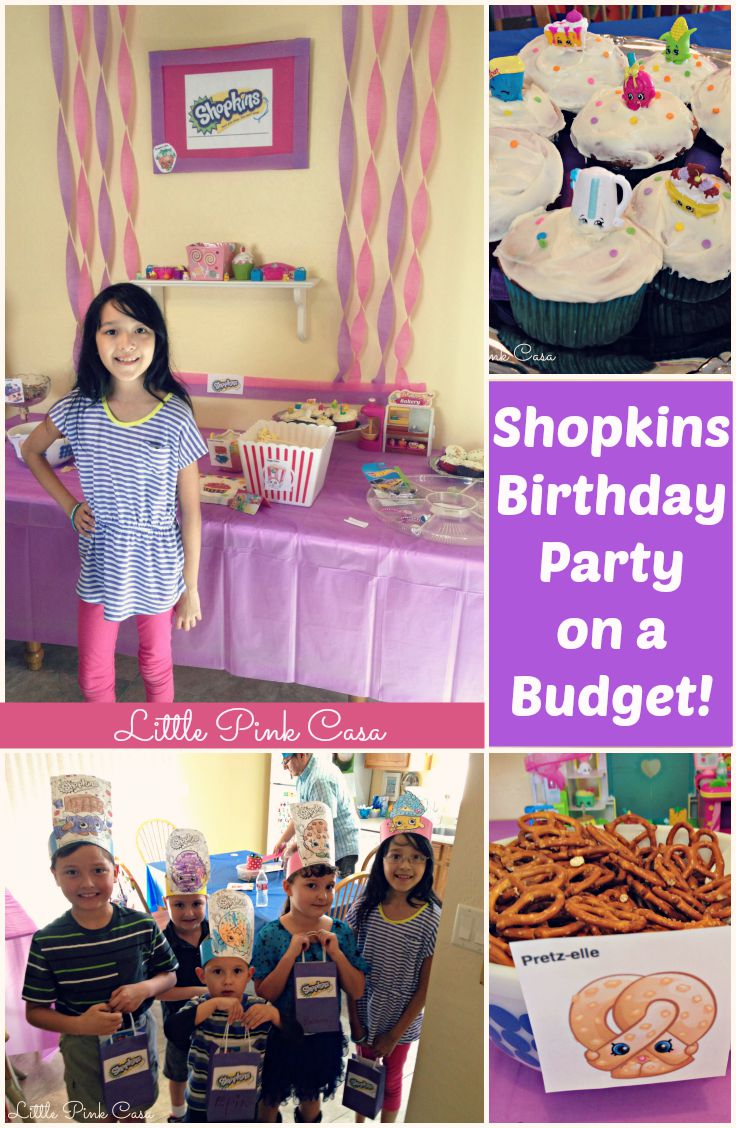 Budget birthday party little pink casa hadaras shopkins birthday party on a budget filmwisefo