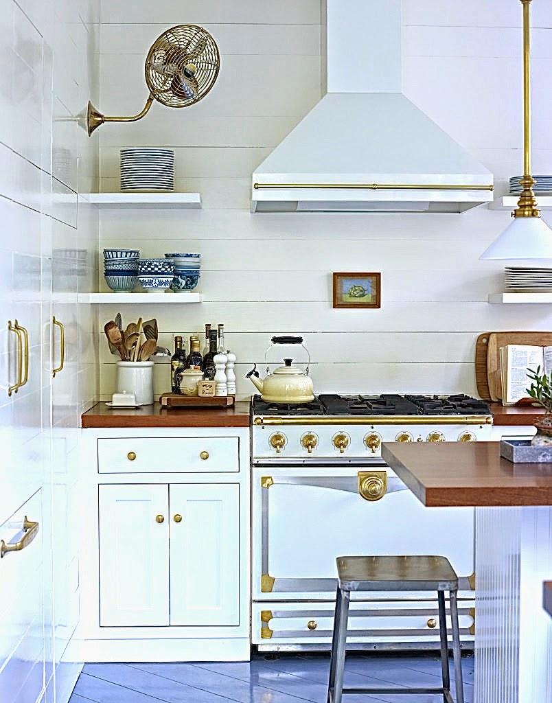 Kitchen with vintage looking La Cornue stove
