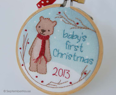 baby's first christmas 2013 holiday ornament