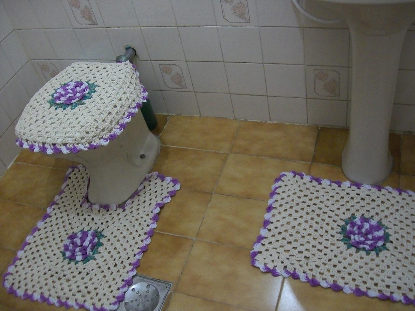 Jogo De Banheiro De Croche Em Barbante Consejos De Fotografía #4A3765 1600x1200 Banheiro Bbb 2014