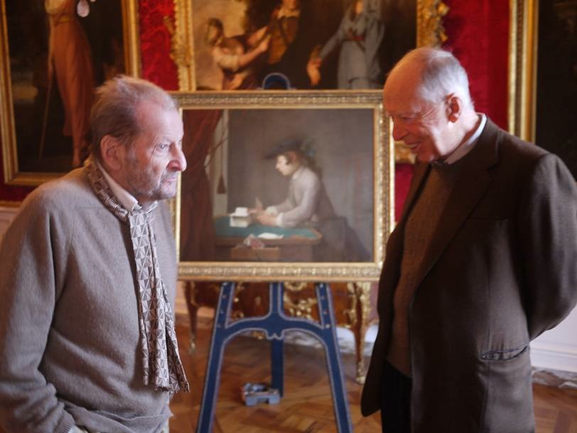 Lucian Freud and Jacob Rothschild at Waddesdon | Hannah ...