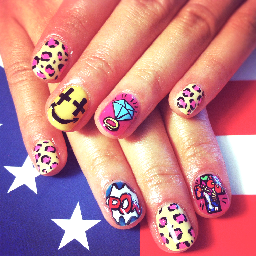 Loves Me Like a Rock: American pOp - nail art
