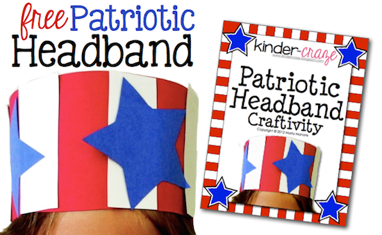 FREE patriotic headband template from Kinder-Craze