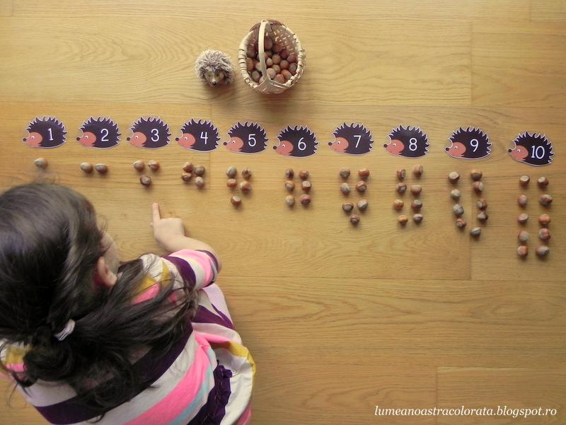 numerele pare și impare în stil Montessori