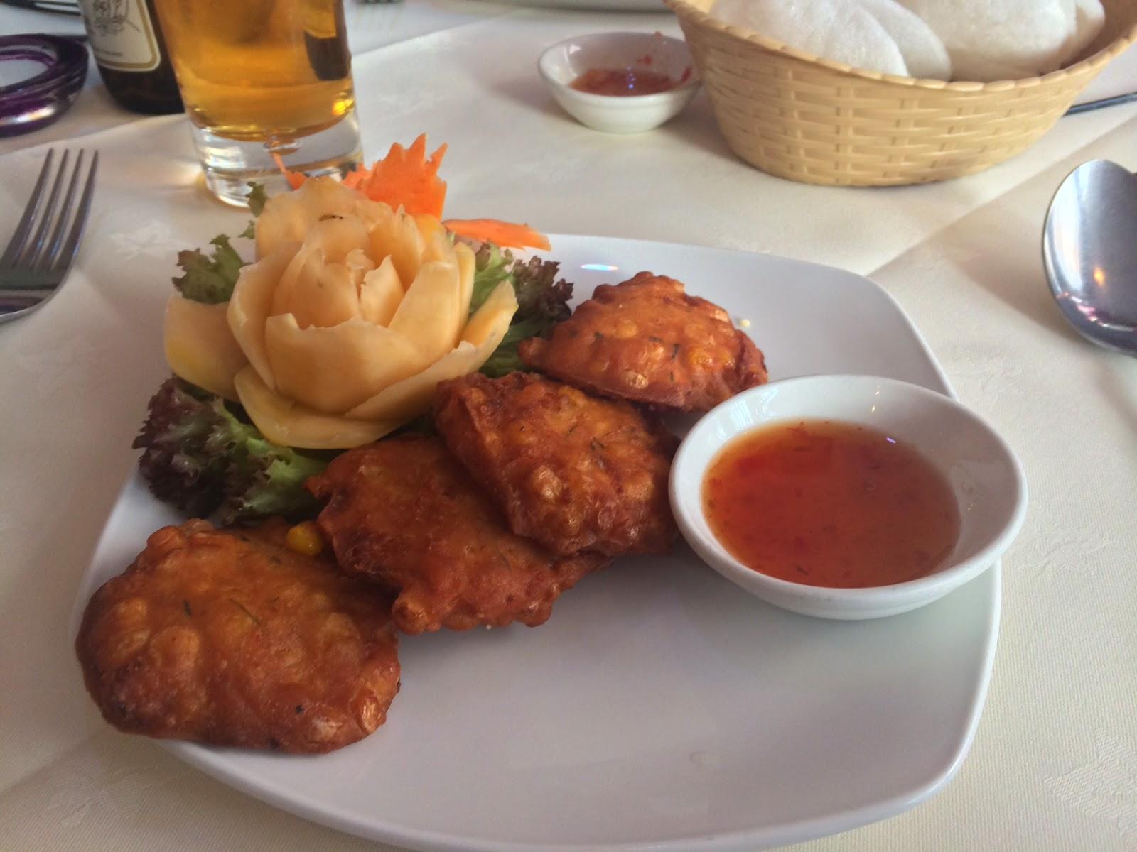 Lemongrass Thai sweetcorn fritters