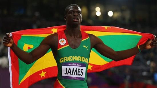 Kirani James wins the men's 400m final at London Olympics 2012, image courtesy of London 2012