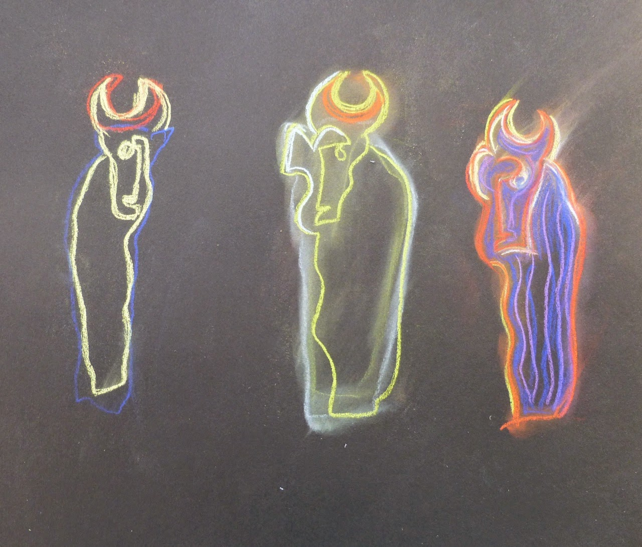 Using colour to re-interpret one of the figures drawn previously