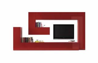 Fotografias de muebles de salon modernos - Mueble salon rojo ...