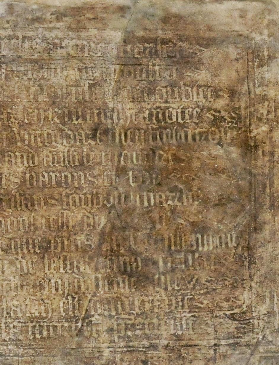 Texte sur le mur de l'Aître