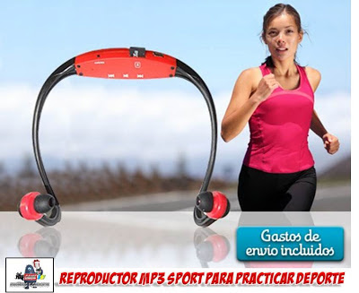 auriculares MP3 para practicar deporte