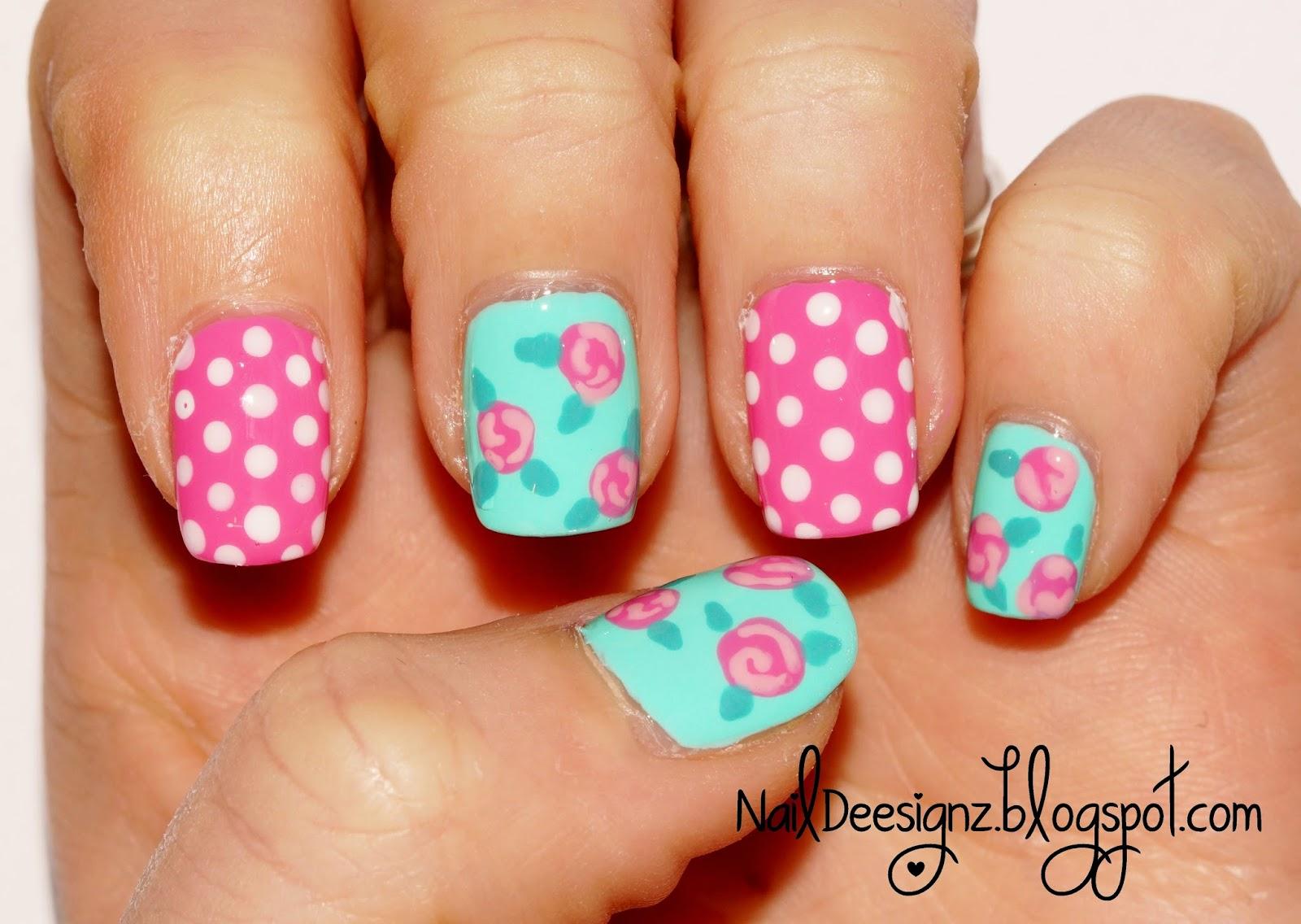 Naildeesignz shabby chic nail art - Nail art chic ...
