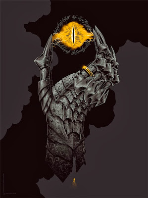 """Hand of Sauron"" The Lord of the Rings Standard Edition Screen Print by Phantom City Creative"