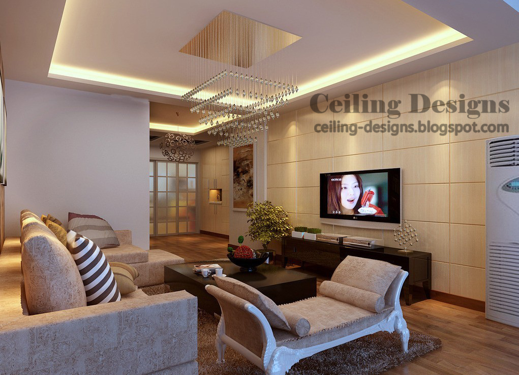 false ceiling designs for living room : hidden lighting, luxurious ...