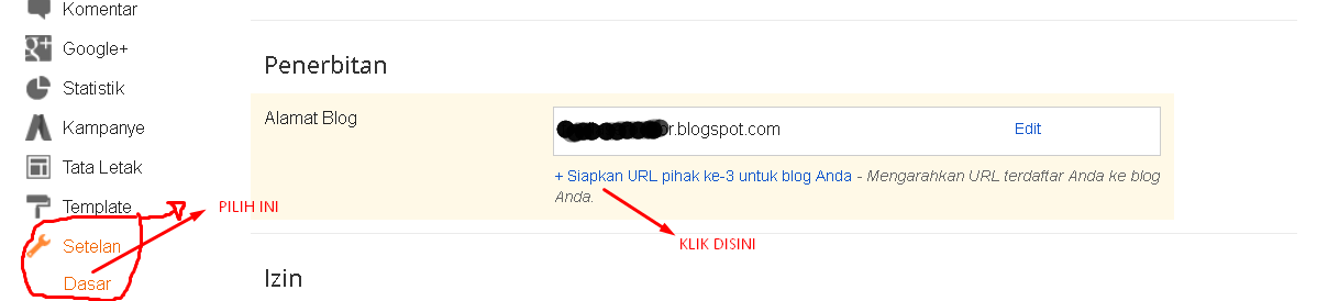 Seting DNS Pada Blogspot