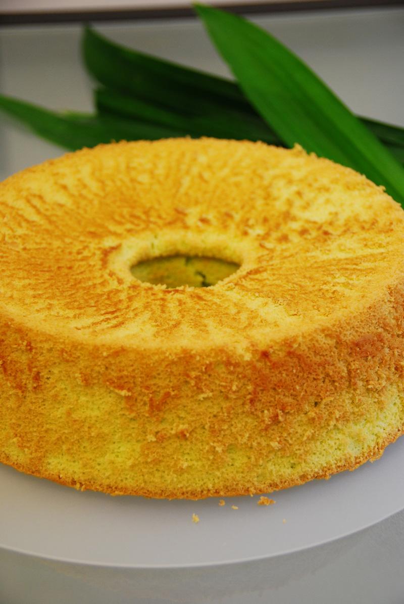 Pandan Coconut Chiffon Cake Recipe