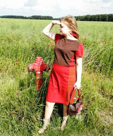Sukienka z Burdy