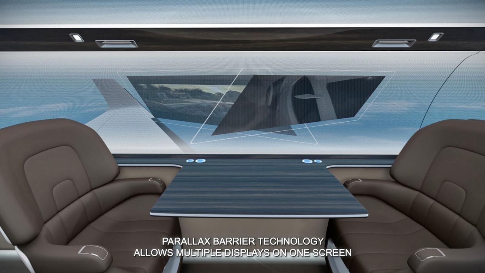 windowless supersonic jet parallax barrier technology