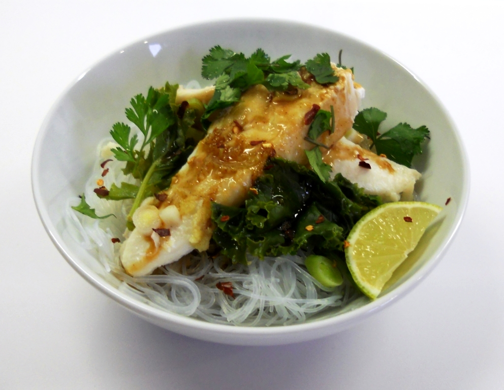 Marthese seasonal food steamed fish fillets with tamarind for Rice noodle fish