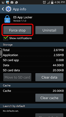 Android Force Stop application