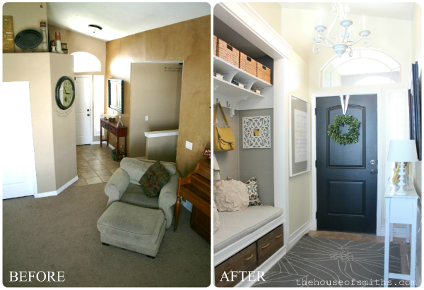 Foyer With No Closet : Our home tour front porch and entryway