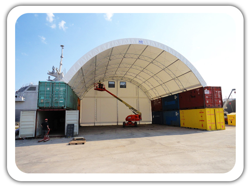 Portable Fabric Structures : Shipping container architecture storage buildings