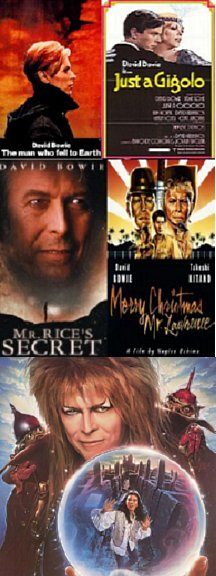 David Bowie 6 films 6 DVDs $15.99