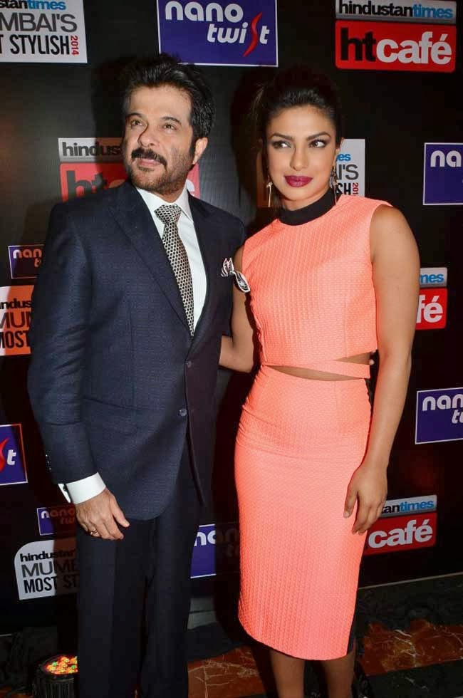 Priyanka Chopra and Anil Kapoor