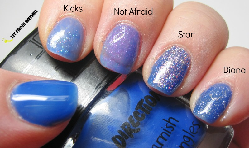 The One Direction Rock Me Nail Kit - Happily, with Kicks, Not Afraid, Star, and Diana