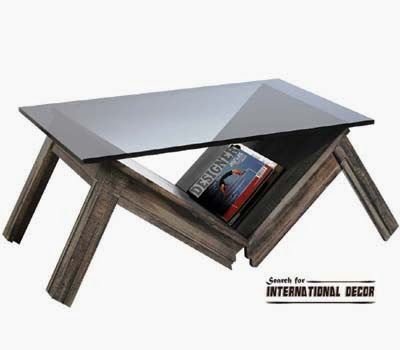unique coffee table, modern and contemporary coffee table