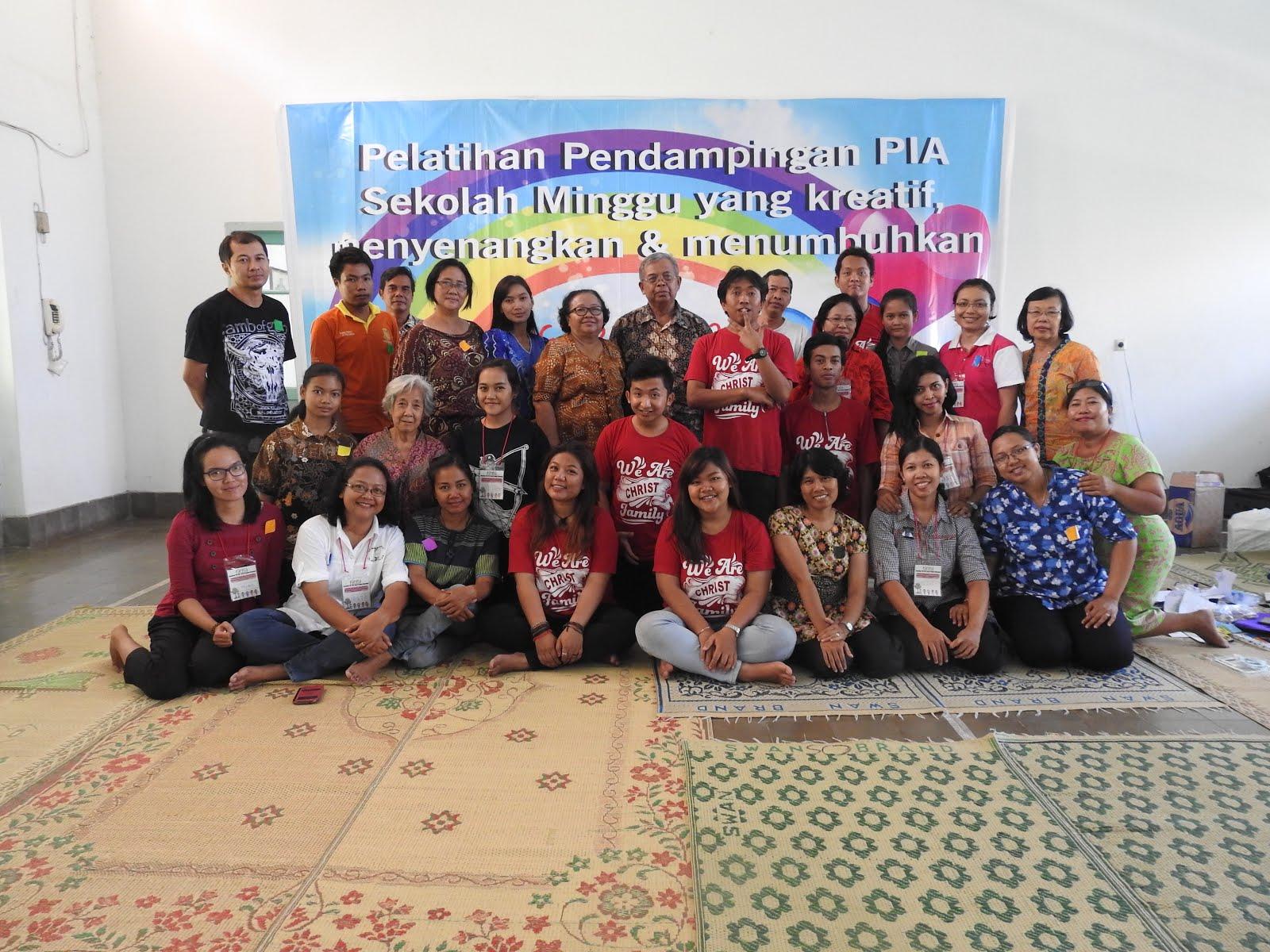 Bersama pendamping PIA wilayah Klaseman Paroki Banteng 24 April 2016